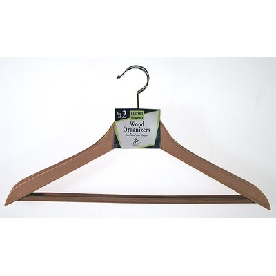 Contoured Wooden Suit Hanger (Set of 2)