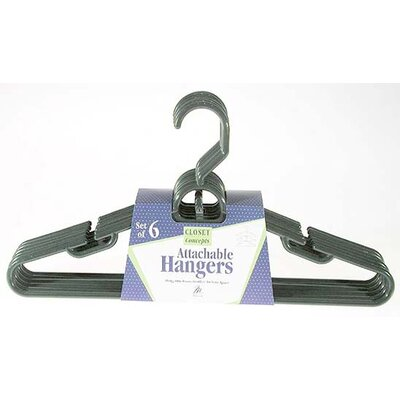 Merrick Heavy Duty Tubular Hanger with Attachable Hook (Set of 6)