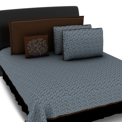 Hallmart Collectibles Morning Leaves 5 Piece Coverlet Set
