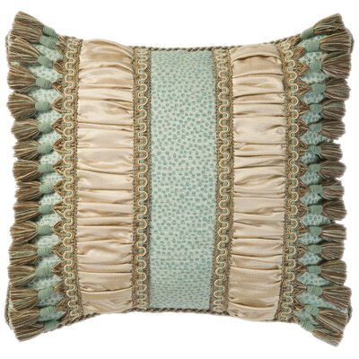 Jennifer Taylor Fortune Synthetic Pillow with Braid, Cord and Tassel Fringe
