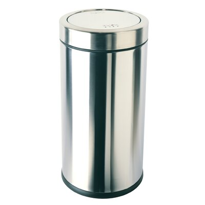 simplehuman 55 Litres Swing Top Rubbish Bin in Brushed Stainless Steel