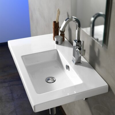 Condal Ceramic Bathroom Sink with Overflow - Art CO01011