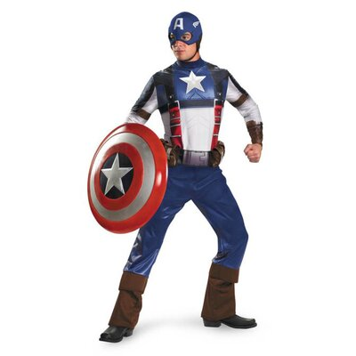 Disguise Costumes Captain America Movie Adult Deluxe Costume