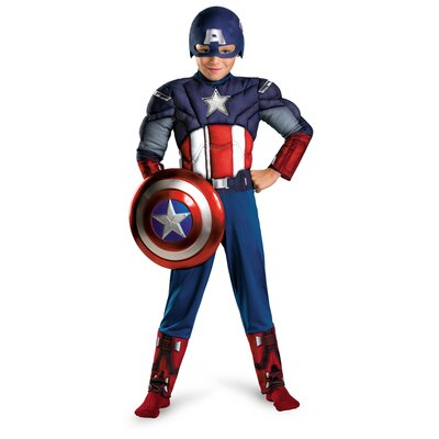 Disguise Costumes Captain America Avengers Muscle Light Up Costume