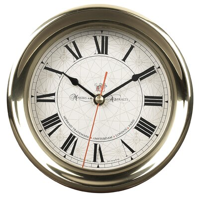 Authentic Models Captain's Large Clock in Brass