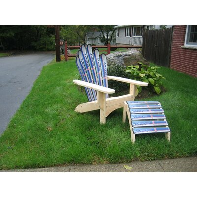 Snow Adirondack Chair and Ottoman