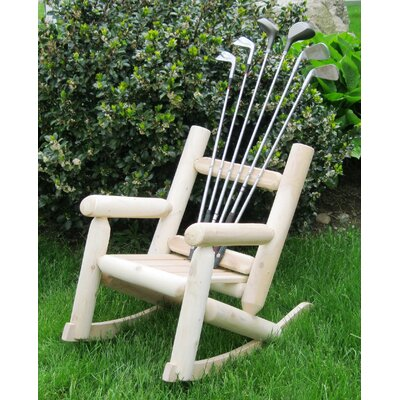 Ski Chair Children's Golf Club Log Rocking Chair