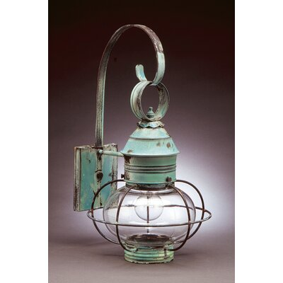Northeast Lantern Onion Medium Base Socket Caged 1 Light Hanging lantern