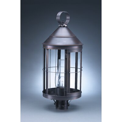 Northeast Lantern Heal 1 Light Chimney Cone Top Post Lantern