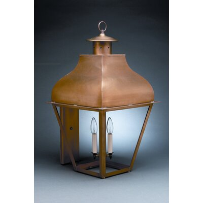 Northeast Lantern Stanfield 3 Candelabra Sockets Curved Top Wall Lantern