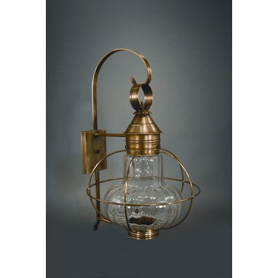 Northeast Lantern Onion Two Candelabra Sockets Wall Lantern