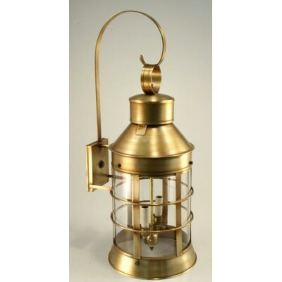 Northeast Lantern Nautical 2 Candelabra Sockets Top Scroll Wall Lantern