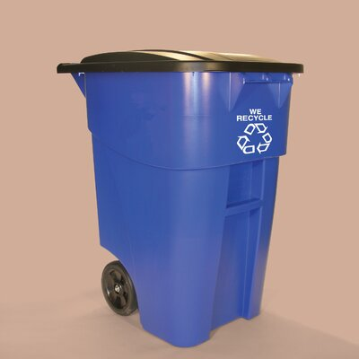 Rubbermaid Commercial Products 50 Gallon Brute Rollout Recycling Container