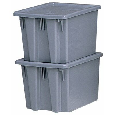 Rubbermaid Commercial Products Stack &amp; Nest Palletote Box Lids Palletote Lid: 640-1720-Gray - palletote lid