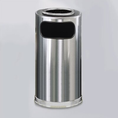 Rubbermaid Commercial Products Metallic Designer 12 Gal. Sand Top Ash/Trash Receptacle