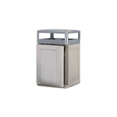 Rubbermaid Commercial Products Keystone Concrete Weather Urn and Trash Receptacle with Side Door