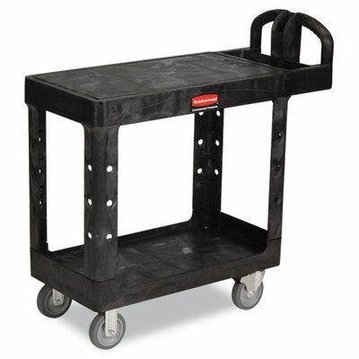 "Rubbermaid Commercial Products Flat Shelf Utility Cart, 19-3/16"" Wide"