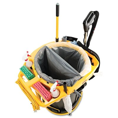 Rubbermaid Commercial Products Deluxe Rim Caddy in Yellow
