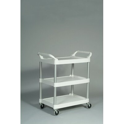 Rubbermaid Commercial Products 3-Shelf Service Cart in Off-White