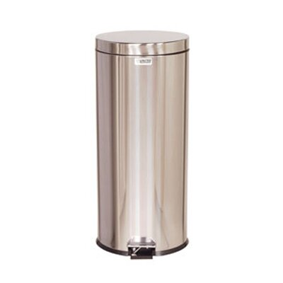 Rubbermaid Commercial Products Round Medi-Can Stainless Steel Step Can