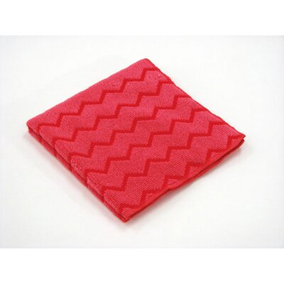 Rubbermaid Commercial Products Hygen Microfiber Cleaning Cloths in Red