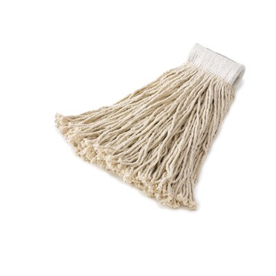 "Rubbermaid Commercial Products Economy Cotton Mop Heads with 5"" White Headband"