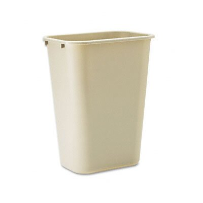 Rubbermaid Commercial Products Deskside Plastic Rectangular Wastebasket, 10 1/4 Gal