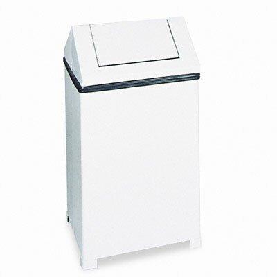Rubbermaid Commercial Products Fire-Safe Swing Top Square Receptacle, 40 Gal