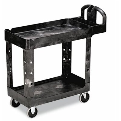 "Rubbermaid Commercial Products Heavy-Duty Utility Cart, 17-7/8"" Wide"