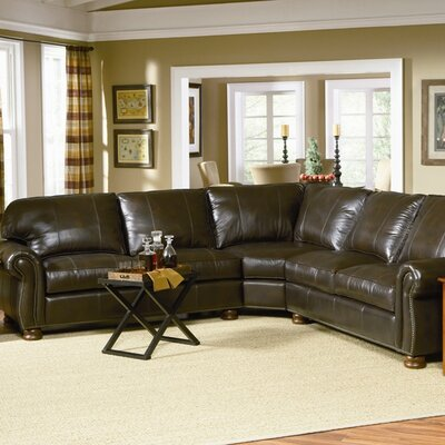 Charles Schneider Furniture Lincoln Leather Sectional
