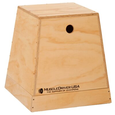 Muscle Driver USA 2 in 1 Wooden Plyometric Box