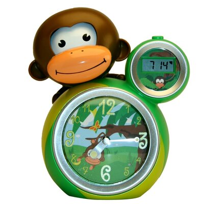 Baby Zoo Momo Clock in Green / Yellow