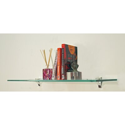 "Spancraft Glass 8"" Floating Cardinal Shelf"