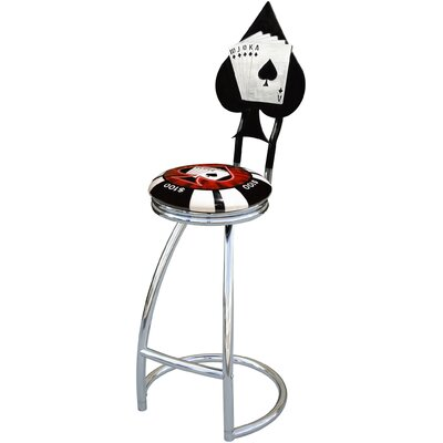 "On The Edge Marketing Poker Chip 30"" Billet Barseatz Swivel Barstool"