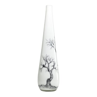 Cyan Design Large Winter Elm Vase in White and Smoked