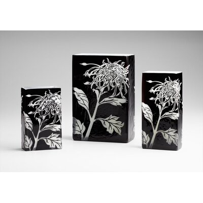 Cyan Design Medium Wild Dandelion Vase in Black and White