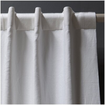 Pom Pom At Home Winston Belgian Linen Curtain Panel in White