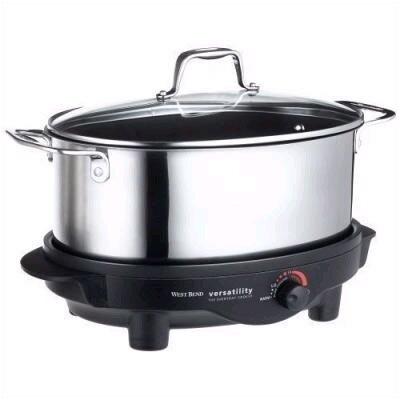 West Bend 6-Quart Versatility Slow Cooker w/Griddle
