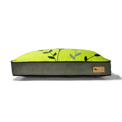 P.L.A.Y. Backyard Greenery Rectangular Dog Bed in Pear / Rifle Green