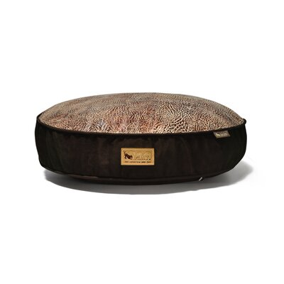 P.L.A.Y. Safari Savannah Round Dog Bed in Sepia / Dark Chocolate