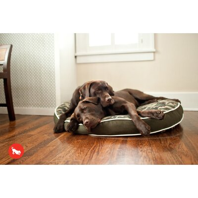P.L.A.Y. Backyard Camouflage Round Dog Bed in Army Green