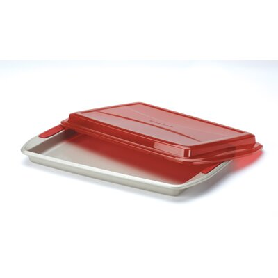 KitchenAid Gourmet Bakeware Covered Cookie Pan with Silicone Grips
