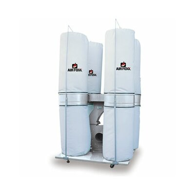 Airfoxx 7.5 HP 3 Phase 220/440V 5260 CFM Bag Dust Collector