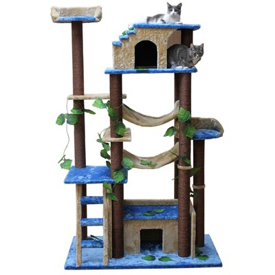 "Kitty Mansions 78"" Amazon Cat Tree"