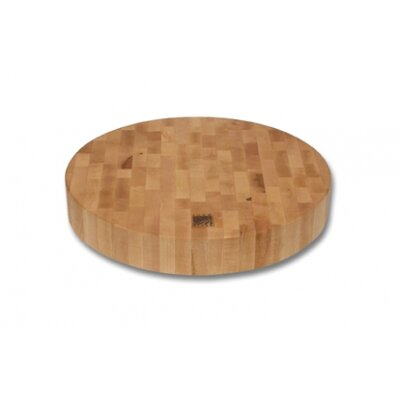 Snow River End Grain Round Cutting Board
