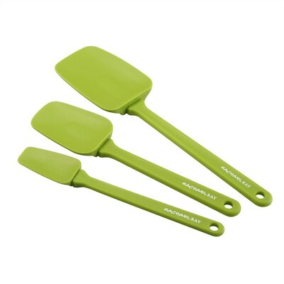 Rachael Ray Tools 3-Piece Spoonula Set in Green
