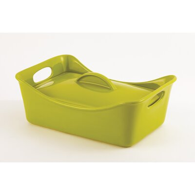Rachael Ray Stoneware 3 1/2-Qt. Rectangle Casserole with Lid
