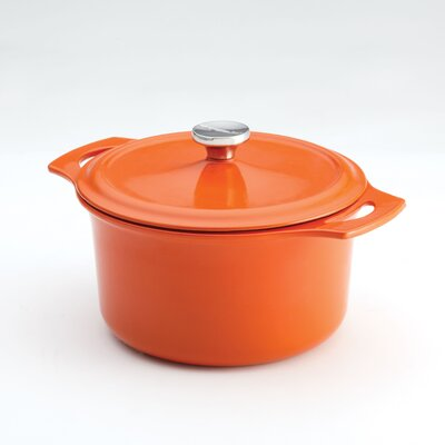 Rachael Ray Cast Iron 5 Quart Round Covered Casserole