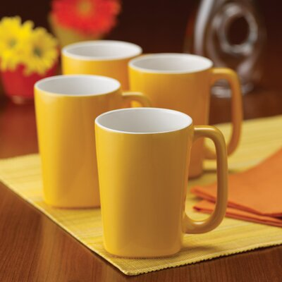 Rachael Ray Dinnerware Round and Square 14 oz. Mug (Set of 4)