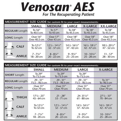 Venosan AES 12-18 mmHg Thigh Length Open Toe Long Stocking